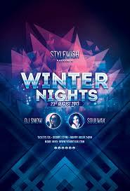Winter Nights Flyer | Design | Print | Pinterest | Winter night ...