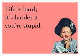 Life Hard Harder Stupid Funny Ecard Extraordinary Life Is Hard Its Harder If Youre Stupid Poster