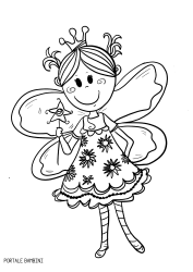 Disegni Di Fate Da Colorare Fairy Coloring Coloringpages