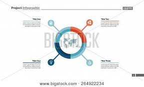 Pie Chart With Four Elements Infographic Circle Option