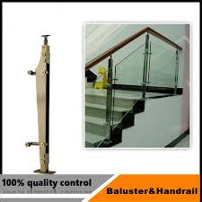 stainless steel railing glass clamp for outdoor barade and handrails