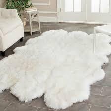 attractive white lambskin rug your home inspiration safavieh hand woven sheepskin pelt white rug