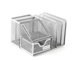 3 slot mesh metal desk black letter mail sorter holder