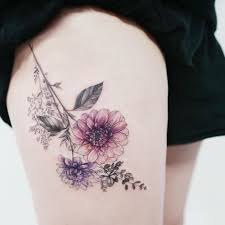 татуировки для девушек на ноге 50 фото большие и маленькие