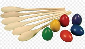 Wooden Spoon Game Fascinating Eggandspoon Race Game Sports Day Threelegged Race Wooden Spoon