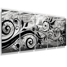 whispering winds 68 x24 silver black aluminum large modern abstract metal wall art sculpture on big w metal wall art with whispering winds 68 x24 large silver modern abstract metal wall