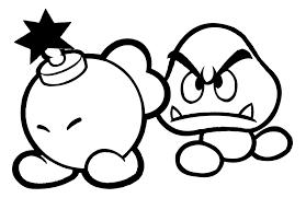Super Mario Bros 208 Video Games Printable Coloring Pages