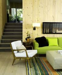 stunning wooden interior concept for nature living interesting living room with long green sofa and