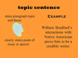 writing a support paragraph one fifth of a spectacular essay  6 topic sentence states paragraph topic and thesis clearly states point of essay or speech example william bradford s interactions native americans