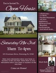 business open house flyer template open house flyer templates templates and samples