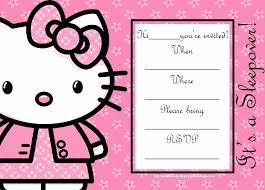 invitation card hello kitty 19 luxury hello kitty birthday invitation card bingregency com