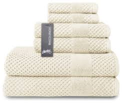 <b>Honeycomb 6-pc</b> Towel <b>Set</b> - Contemporary - Bath Towels - by ...