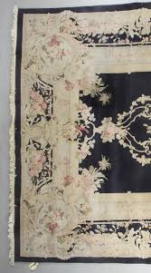 semi antique french aubusson rug