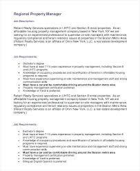 Property Manager Job Description Samples Regional Manager Job Description Template