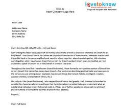 Personal Character Letter Samples Examples Of A Character Reference Letter Job Stuff