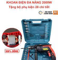 Máy khoan điện đa năng 2000W - máy khoan bê tông - máy khoan tường - máy  khoan sắt - khoan gỗ - khoan bê tông - tặng bộ phụ kiện