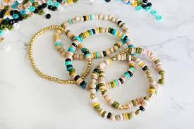 diy boho inspired perler bead elastic