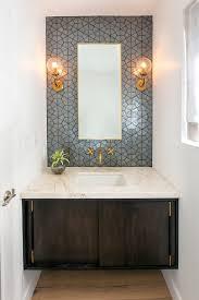 modern bathroom backsplash. Full Wall Backsplash Powder Room Contemporary With Modern Bathroom Mirrors M