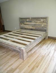 King Bed King Headboard Platform Bed Reclaimed by JNMRusticDesigns Similar  ideas...but I