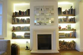 gorgeous shelves beside fireplace perfecting your home