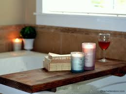 diy bathtub spa shelf