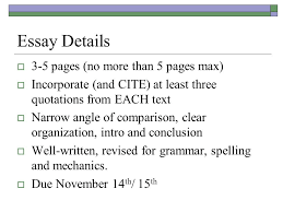 compare and contrast essay details  pages no more than  2 essay