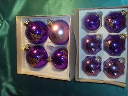 Details Zu 10 Alte Christbaumkugeln Glas Violett Lila Gold Konvolut Weihnachtskugeln Cbs