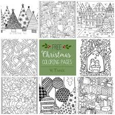Christmas Coloring Paper Free Christmas Adult Coloring Pages U Create