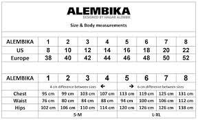 Alembika Size Chart Alembika Shimmer Legging