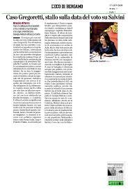 L'eco di Bergamo – Caso Gregoretti, stallo sulla data del ...