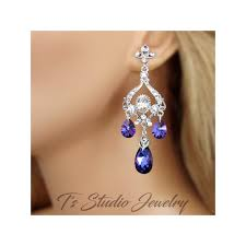 plum purple crystal chandelier earrings plum purple crystal chandelier earrings