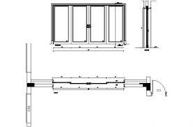 sliding door cad plan page 1 line