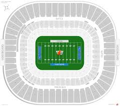 Carolina Panthers Seating Guide Bank Of America Stadium