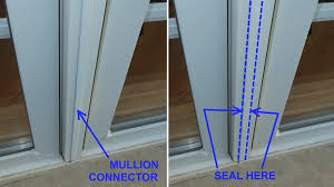 mullion connector between windows is often loose and unsealed allowing air infiltration leaks