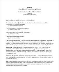 board of directors minutes of meeting template 11 church meeting minutes templates free premium templates