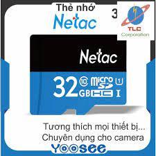 Thẻ nhớ SD micro NETAC 32GB Class 10 - Bảo hành 5 năm chính hãng
