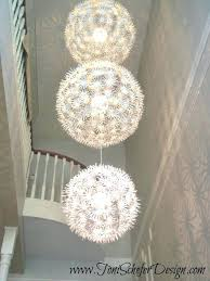 ikea paper chandelier what do you when have a client with foot entryway and cant find