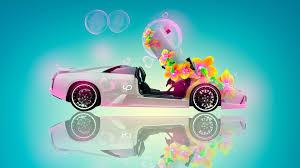 lamborghini murcielago fantasy flowers car