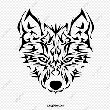 татуировка волк карта волк татуировка черно белый цвет Png и Psd