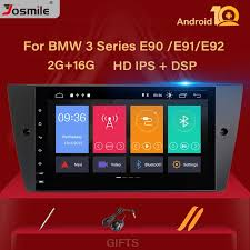 DSP IPS <b>1 Din Android 10</b> Car Radio DVD Player For BMW E90/E91 ...
