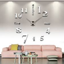 Decorative Wall Clocks For Living Room Popular Large Analog Wall Clock Buy Cheap Large Analog Wall Clock