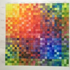 Artist Colour Mixing Chart Jane Blundell Artist Nine Colour Mixing Grid