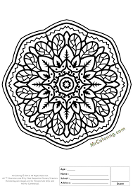 Small Picture Mandala Online Coloring Pages at Best All Coloring Pages Tips