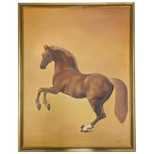 whistle jacket horse image on canvas painting g h lewis after george stubbs