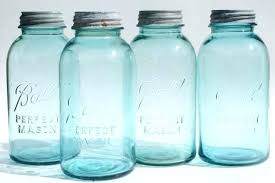 blue glass canisters for the kitchen vintage aqua blue glass ball perfect mason jars big two