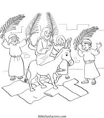 Palm Sunday Coloring Page - fablesfromthefriends.com