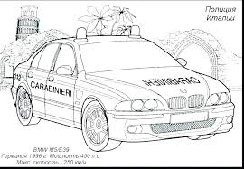 Police Car Coloring Pages Pdf Es Sports And Jaguar Cars Race Free