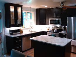 Really Small Kitchen Dark Cabinets In A Really Pic Photo Small Kitchens With Dark