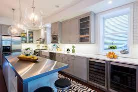 Zebra Runner In Modern Gray Kitchen Contemporary Kitchen