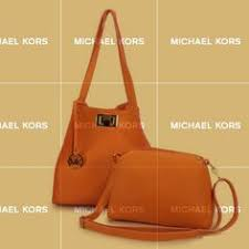 Top Material Michael Kors Turn Lock Logo Large Orange Shoulder Bags Are  Calling For You Now